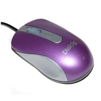 Мышь оптическая Dialog Pointer MOP-18SU (purple/silver)