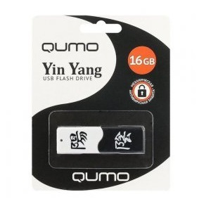 Флэш накопитель USB 16 Гб Qumo ИНЬ&ЯН (white/black)