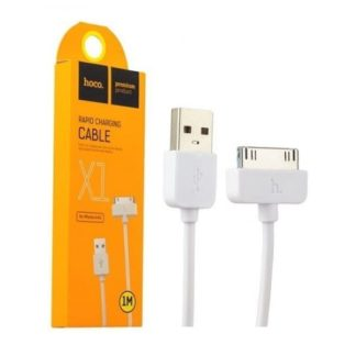 Кабель USB Hoco X1 Apple 30pin белый 1м