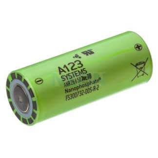 АКБ LiFePO4 26650 2500mAh 3.3v (A123 Systems)