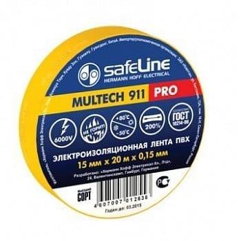 Изолента SafeLine 15/20 желтая 05730